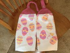 Easter - Peep Chick W/Mulit Colored Easter Eggs  Knit Top Kitchen Towels