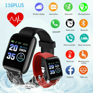 Smart Watch Bluetooth Heart Rate Blood Pressure Monitor Fitness Tracker Bracelet