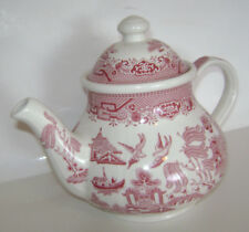 ROYAL WESSEX Red Willow Tea Pot with Lid OFF WHITE IVORY FORMAL CHINA RARE