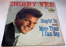 Bobby Vee More Than I Can Say b/w Stayin In 1961 Liberty 55296 R&R PS 45rpm VG