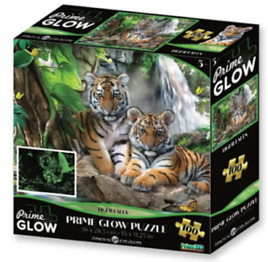 Super 3D Glow in the Dark 100Pc Jigsaw Puzzle - TIGER FALLS By Crown & Andrews