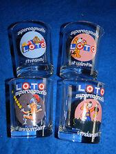 LOT 4 VERRES verre PUBLICITAIRES LOTO glas GLASS super cagnotte TIRAGE FDJ