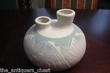 American Indian Pottery wedding vase  marked G. Dan grey, pink and cream