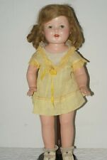 """GORGEOUS! Vintage 20"""" Unmarked Composition & Cloth Human Hair All Original Doll"""