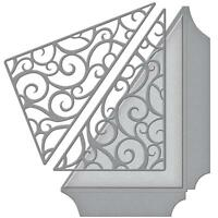 Spellbinders Designer Series Die ~ FILIGREE SIDE POCKET ~ S4-612 ~ Becca Feeken