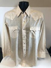 Vintage Mens Rodeo Style Shirt Chute #1 Pesrl Buttons 16/33