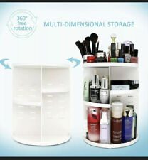 360 Degree Rotating Acrylic Makeup Organizer Cosmetics Bathroom Storage Stand