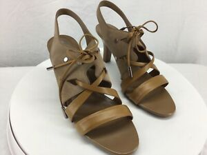 Tods Tan Suede Leather Strappy Lace-Up Slingback Dress Sandal US 9.5  Never Worn