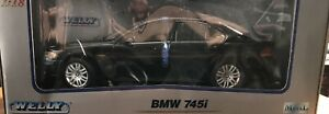 Welly BMW 745i 1:18 Die Cast Black New In Box