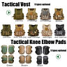 Tactical Vest Airsoft Paintball Molle Combat Assault Pouches Knee Elbow