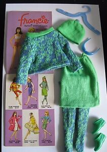 """MATTEL  FRANCIE """" GAD ABOUT"""" OUTFIT #1250 ~ COMPLETE WITH HTF GLASSES"""