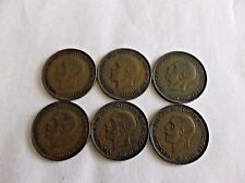 6 King George V 1 Penny Coins, UK, GB, England, 1929 1930 1931 1932 1934 1936