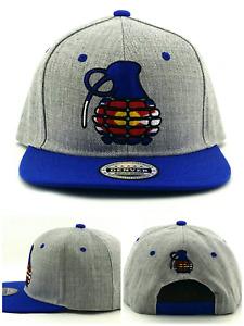 Colorado New Leader Denver Flag Grenade Rockies Gray Blue Era Snapback Hat Cap