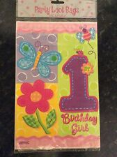40 x Baby Girls 1st Birthday Party Loot Bags - Hugs & Stitches Design