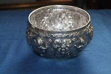 Vintage 925 Sterling Silver Siam Thai Repose Storyteller Bowl