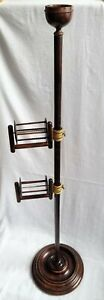 SCOTTISH SQUIRREL CAGE YARN WOOL WINDER TURNED WOOD & BRASS JAMES SMITH PEEBLES