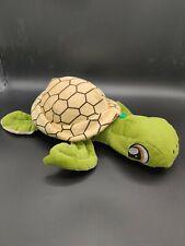 "Fiesta Big Eyes Green Turtle 12"" Inch My Plush Zoo Pet Pillows Sea World Toy"