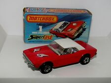 Lesney Matchbox Superfast No 1 Dodge Challenger DARK RED J Box With New MIB