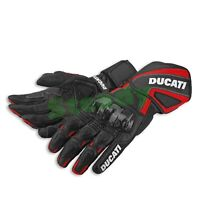 Ducati Motorcycle Cowhide Leather Racing Motorbike Gloves Red & Black