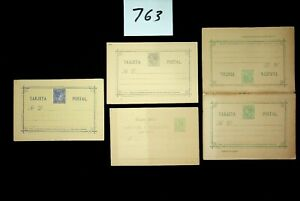 DAW Spain  Postal History  Postal Stationery Collection 2 scans Lot 763