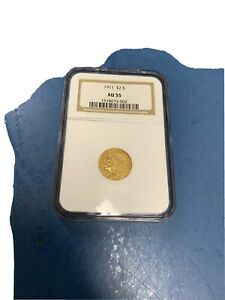 1911 $2.5 Gold Indian Two And a Half Dollar Gold Coin NGC AU 55
