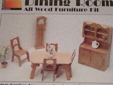 Vtg 90s Corona Dining Room Wood Furniture Doll House Kit Easy Assembly #DR