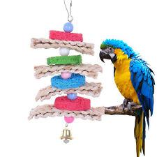 Bird Toy Parrot Cage Toys Cockatoo Conure Chew Loofah Sponge Bite-resistant Pro