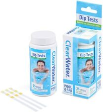 More details for clearwater swimming pools spa water chlorine ph alkalinity dip test strips