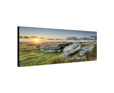 120x40cm Alex Tor Panorama Bodwin Moor Sumpf Cornwall Küste Leinwand Bild Sinus
