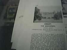 magazine item 1903 - advert ascot the berystede south ascot