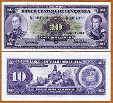 Venezuela, 10 Bolivares, 1963, P-45 (45a),  UNC > Scarce