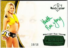 2012 BENCHWARMER SOCCER AUTO:HEATHER RAE YOUNG #10/10 AUTOGRAPH PLAYBOY PLAYMATE
