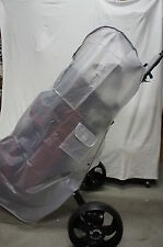 "Full-Length Soft Golf Bag Rain Cover w/Pockets for 10""+ Bag, Protect Clubs & Bag"