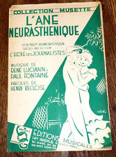 l'âne neurasthénique foxtrot humorist. orchestre dancing 1935 Luciann & Fontaine