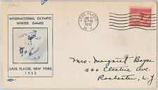 56636  - WINTER OLYMPICS - USA - POSTAL HISTORY: Cachet  FDC Cover 1932