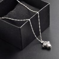 Locket 925 Silver Magnet Cross Pendant Necklace Chocker Jewelry For Women Man