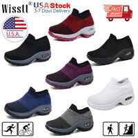 Women's Mesh Sneakers Air Cushion Athletic Tennis Shoes Running Sports Shoes USA