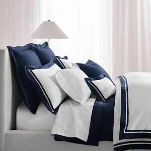 Ralph Lauren Bowery Duvet Cover KING Polo NAVY blue $470 NEW