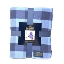 Pendleton Home Collection Blue Black Flannel 50x70 Rob Roy Luxe Throw Blanket