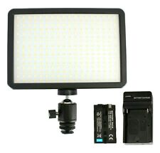 Dimmable 300 LED On-Camera Video Light Panel w/ Sony Type Battery and Charger