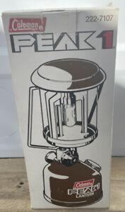 Vintage Coleman Peak 1 Lantern Model 222-7107 Brown 1982 In Original Box Canada