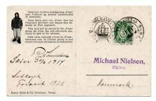 NORWAY/POLAR: Postcard to Denmark from Fram, Amundsen, Polhavet 1914, scarce(B5)