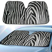 Zebra Animal Pattern Auto Sun Shade Windshield Front Car Window UV Protection