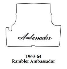 1963 1964 AMC Ambassador Trunk Rubber Floor Mat Cover with A-003 Ambassador