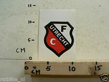 STICKER,DECAL FC UTRECHT LOGO VOETBAL SOCCER B