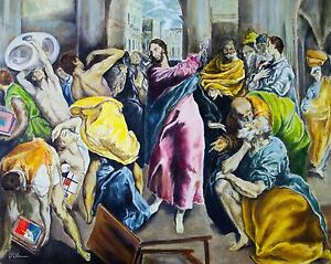 Love or Money Epson Print of oil painting in style of El Greco (Unframed)