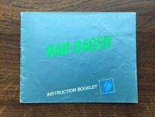 Rad Racer NES Nintendo Instruction Manual Only