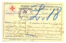 ITALY 1918 RED CROSS --POW CARD -CENSORS - TO GERMANY F/VF @!