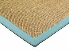 Modern Aqua Blue And Beige Fashionable 100% Sisal Cotton Bordered Living Room...