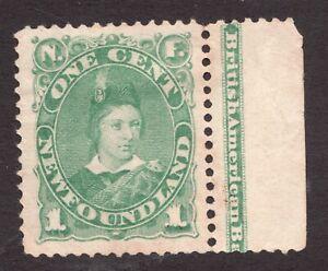 #45a - Newfoundland - 1880 - 1c - Prince of Wales - MNG - superfleas - cv$60